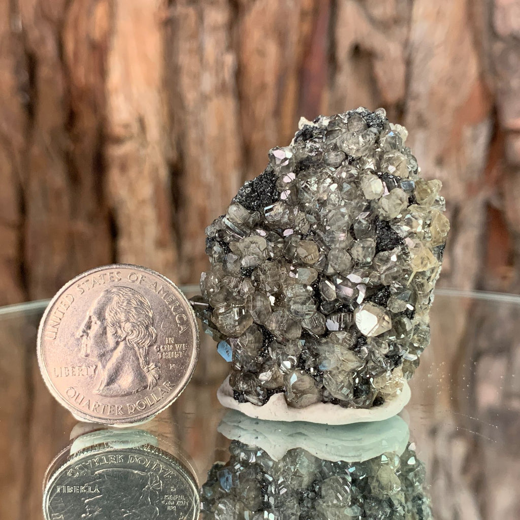 4.5cm 76g Cerussite on Galena from Mibladen, Morocco
