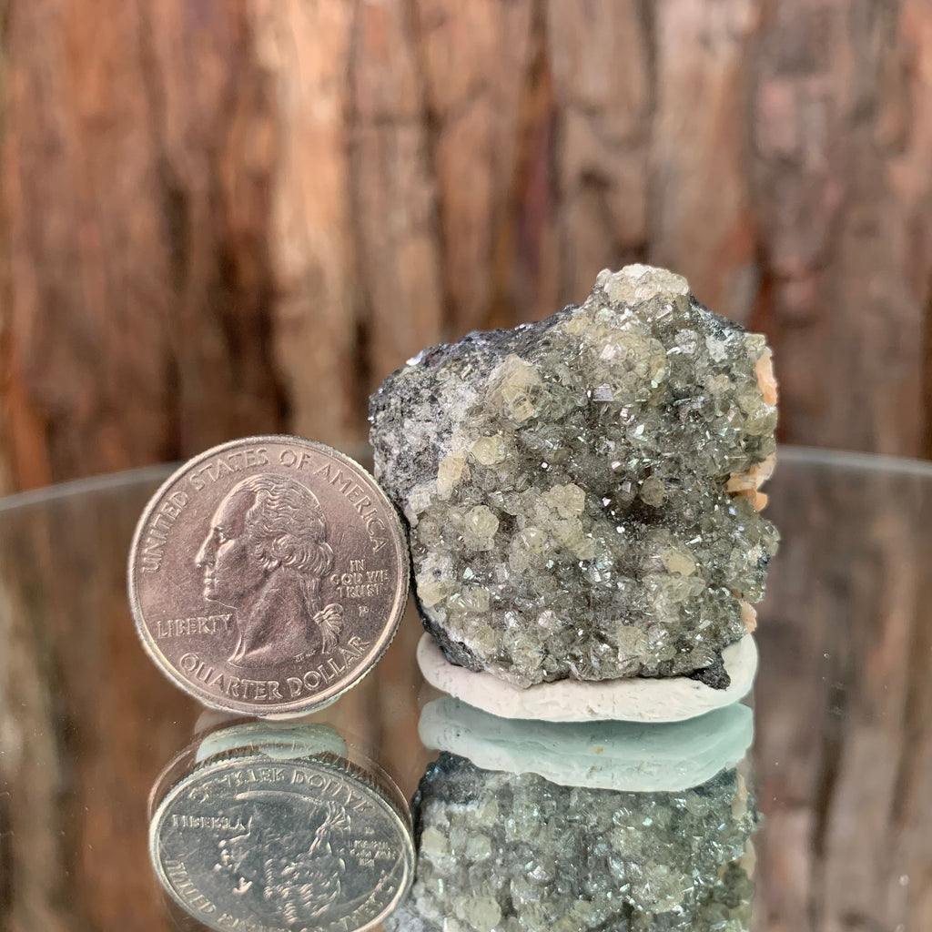 4cm 70g Cerussite and Galena from Mibladen, Morocco