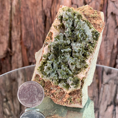 10.5cm 378g Epidote, Clear Quartz  from Morocco