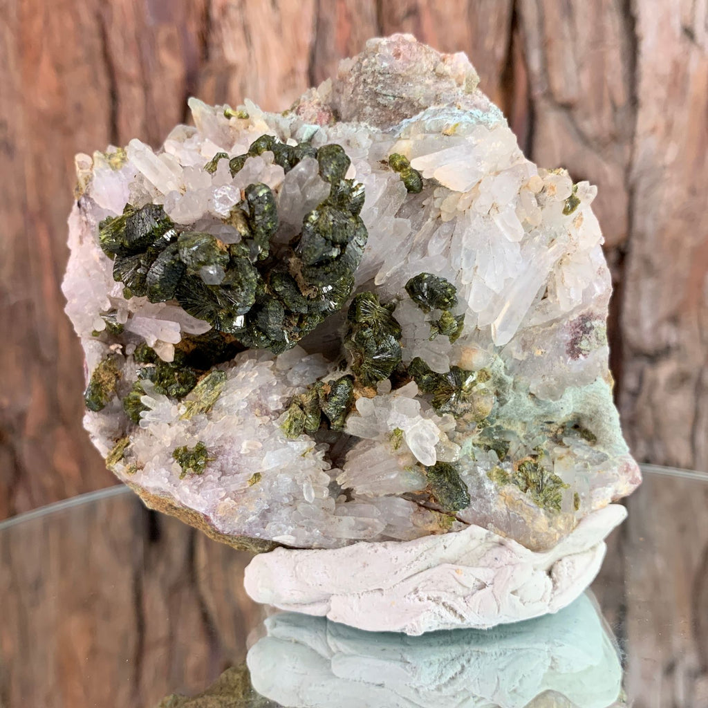 9cm 304g Epidote, Clear Quartz from Morocco