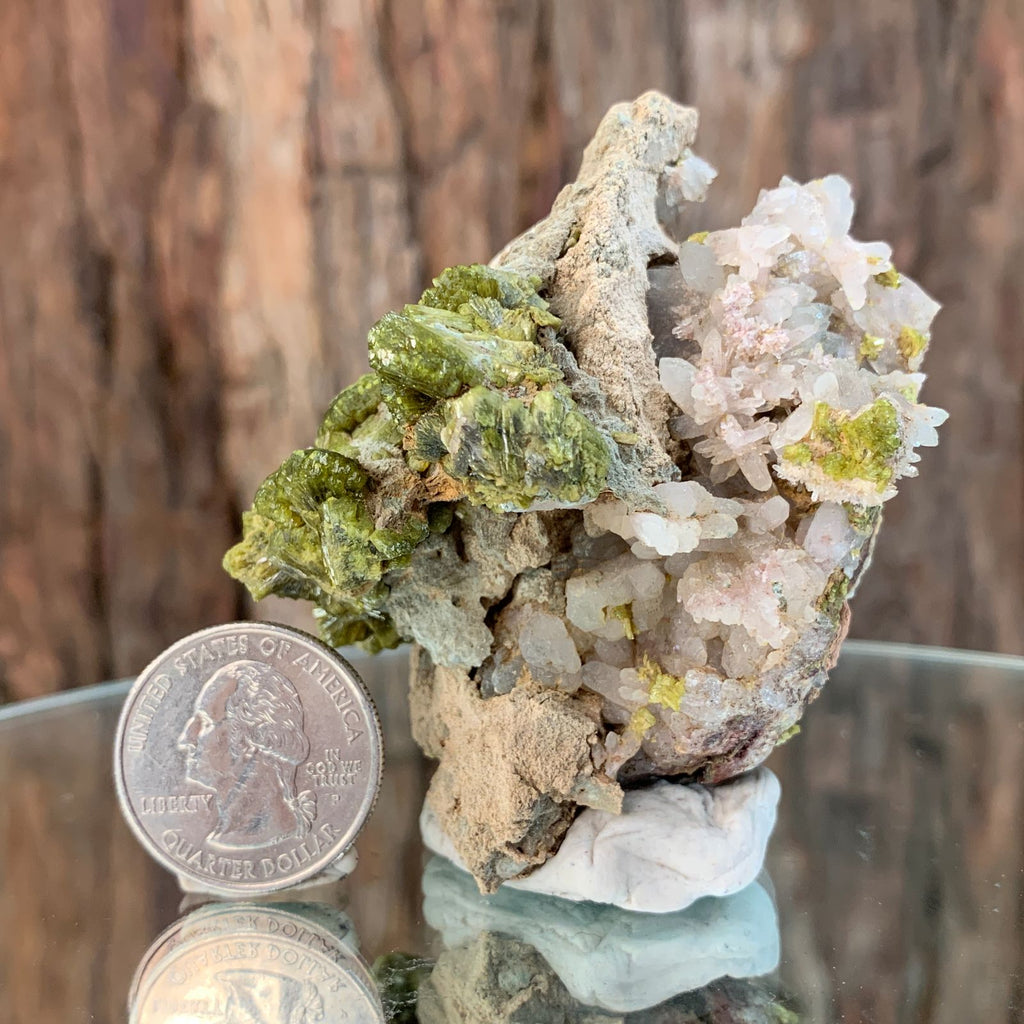 7cm 160g Epidote, Clear Quartz, Chalcedony from Morocco