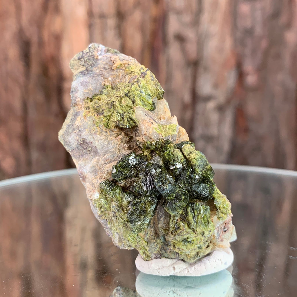 6cm 34g Epidote, Clear Quartz from Morocco