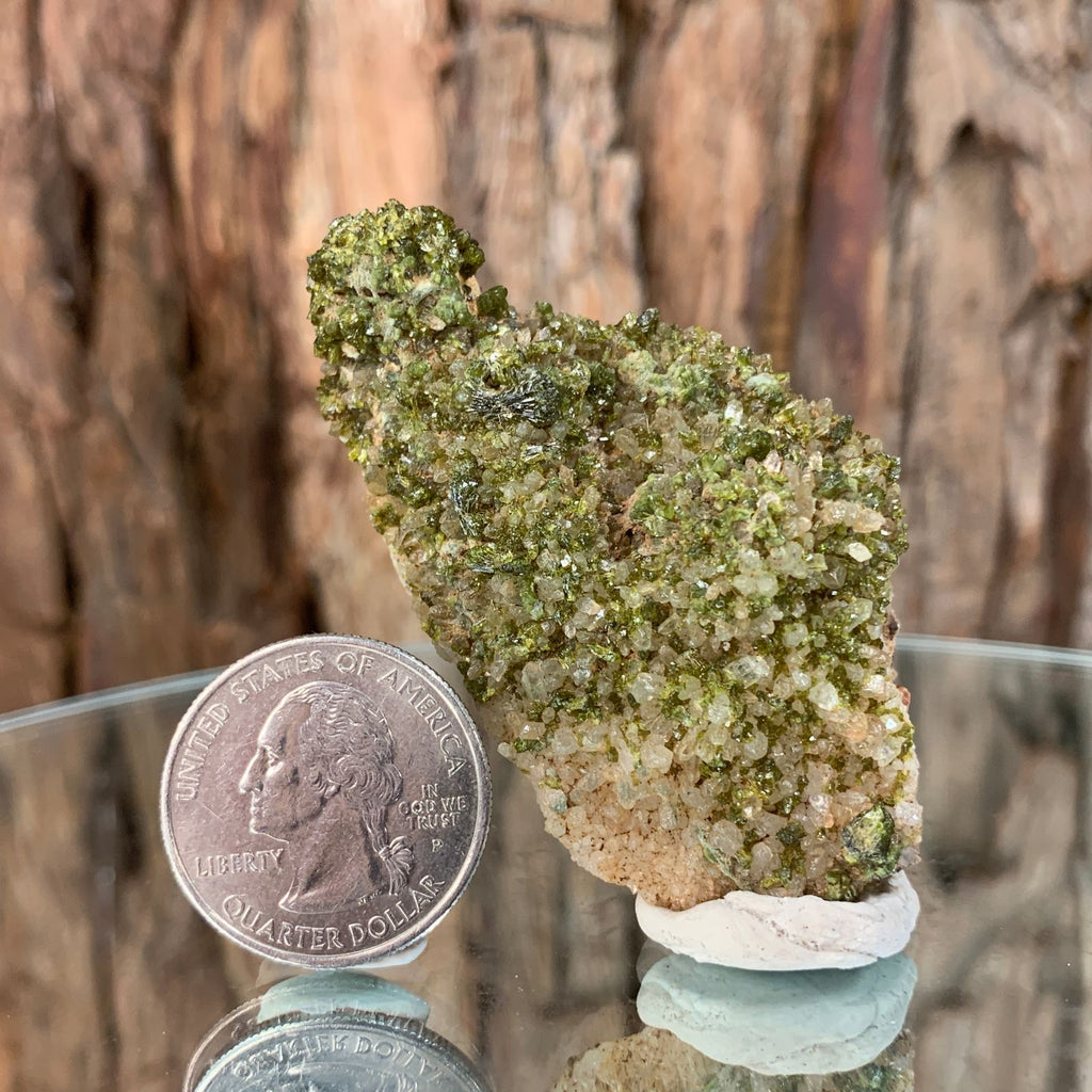 6.5cm 34g Epidote, Clear Quartz from Morocco