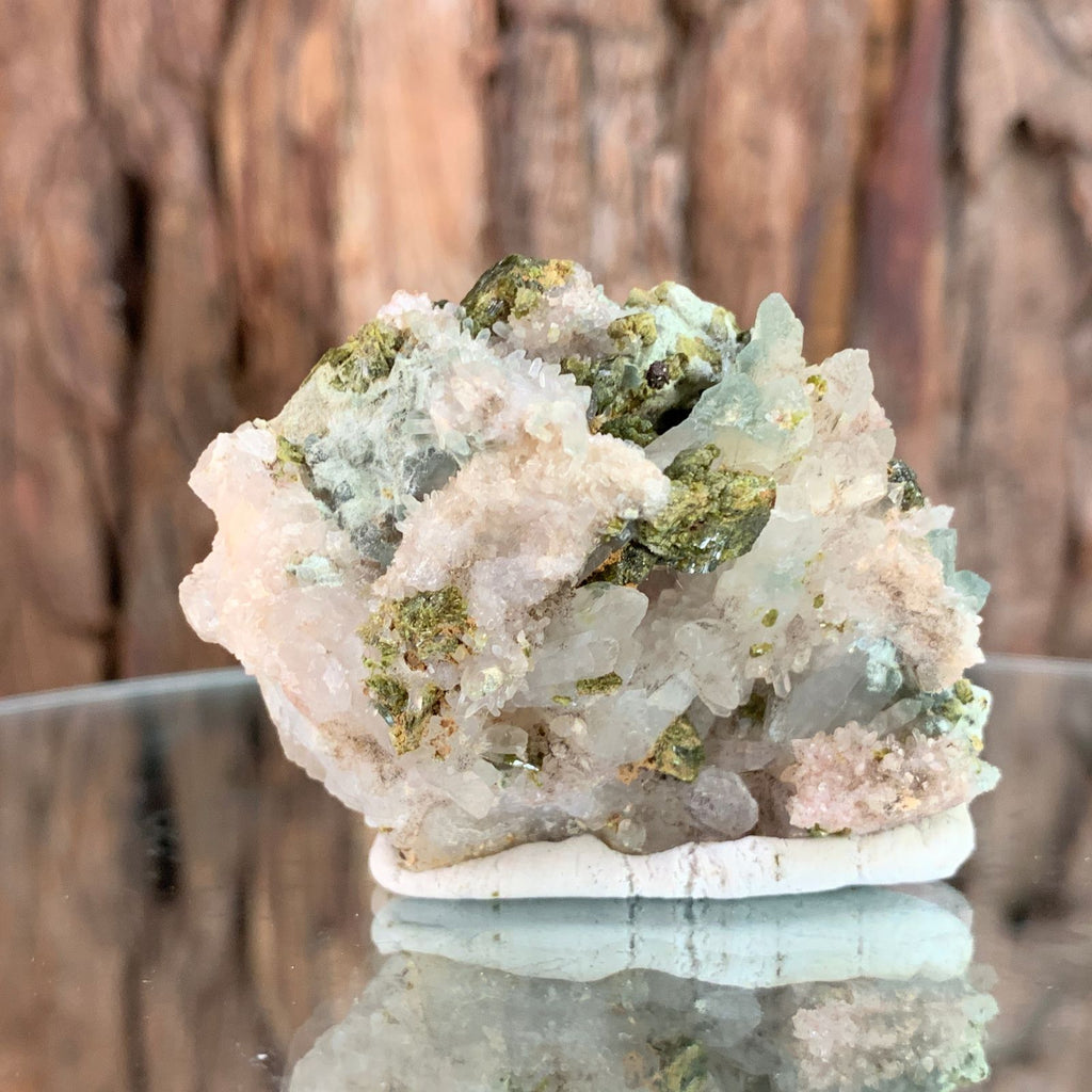 5.5cm 72g Epidote on Clear Quartz From Morocco