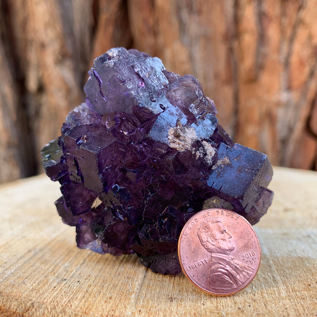 104g 6cm Purple Fluorite Multiple Termination Crystal Specimen, Coahuila, Mexico