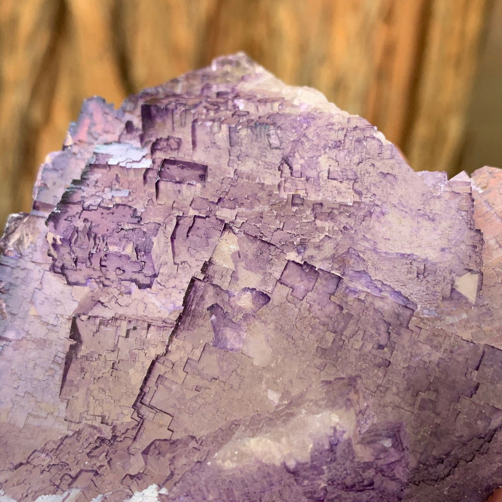 9cm 530g Purple Fluorite from Coahuila, Mexico