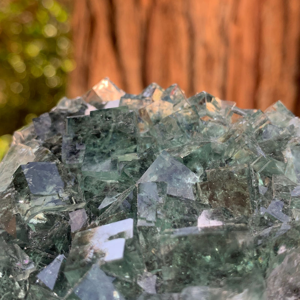 10cm 248g Clear Green Fluorite from Xianghualing, China