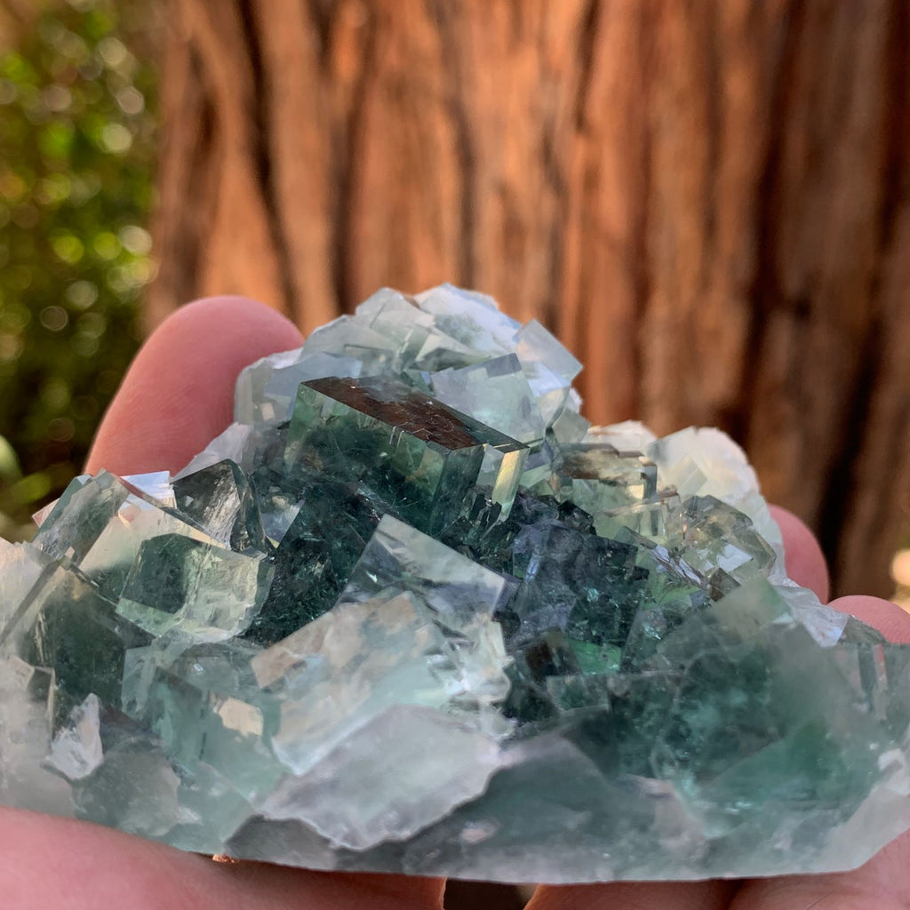 10cm 192g Clear Green Fluorite from Xianghualing, China