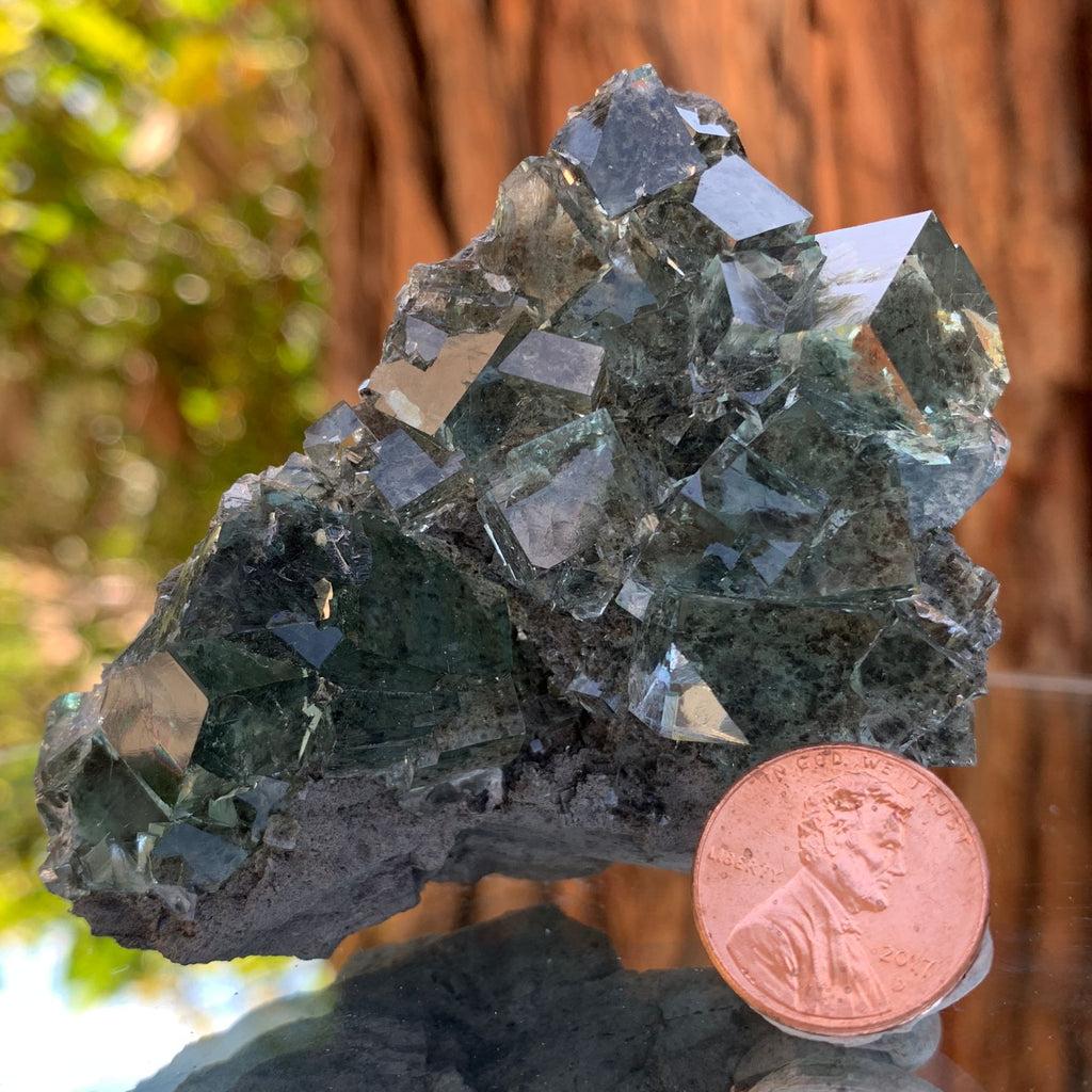 8cm 132g Clear Green Fluorite from Xianghualing, China