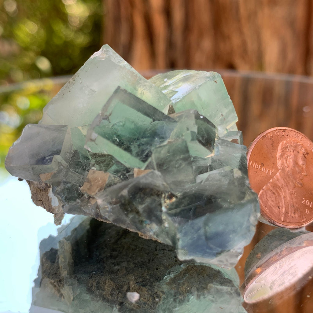 5.5cm 68g Clear Green Fluorite from Xianghualing, China