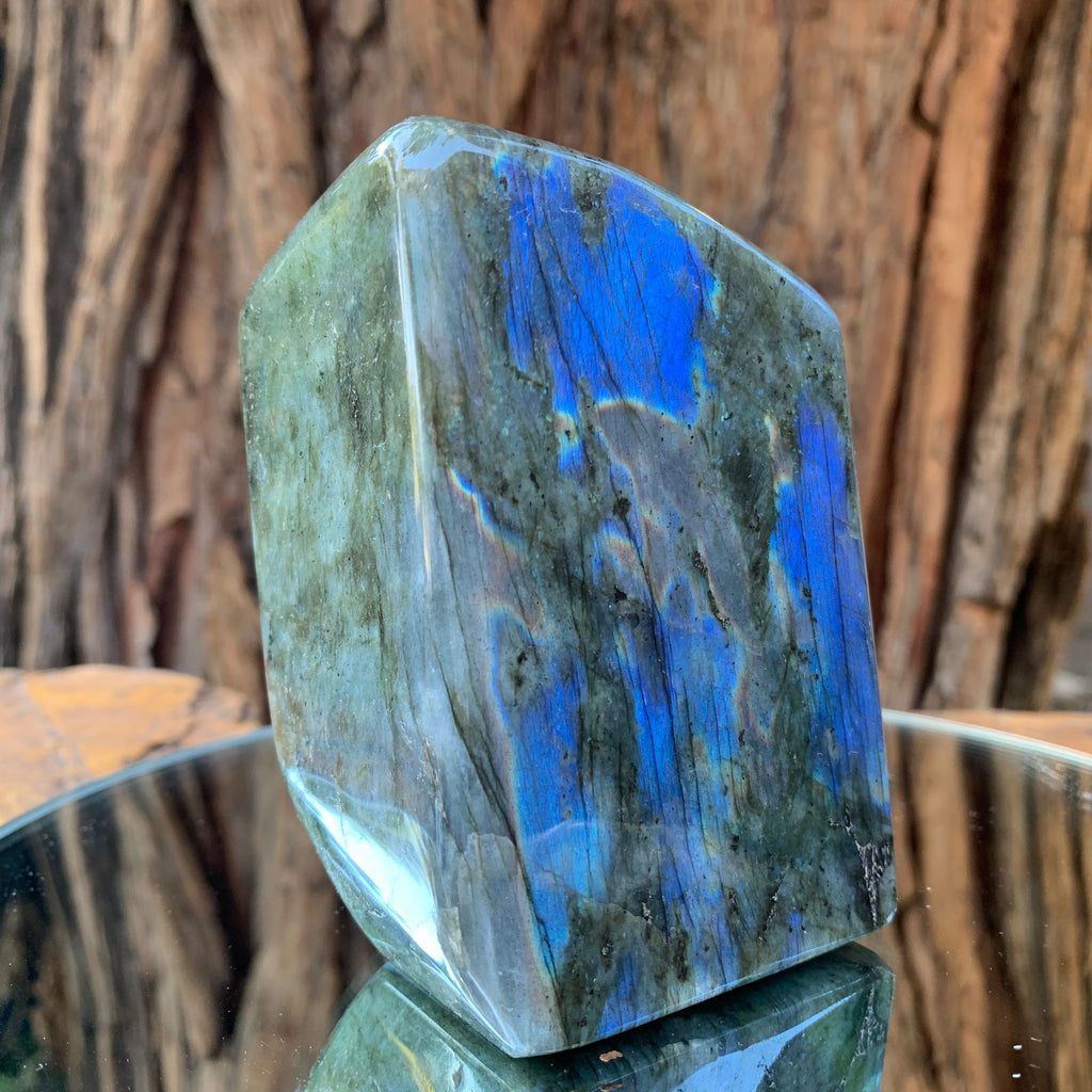 9.5cm 634g Polished Labradorite from Madagascar