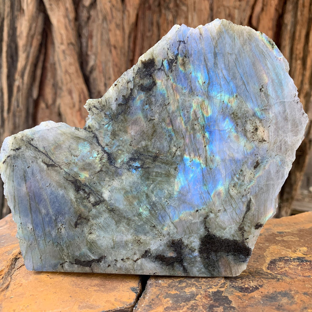 15cm 548g Polished Labradorite from Madagascar