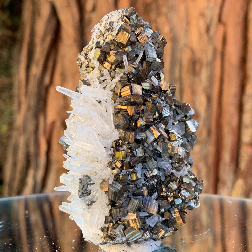 8cm 160g Pyrite, Clear Quartz, Sphalerite from Huaron, Peru
