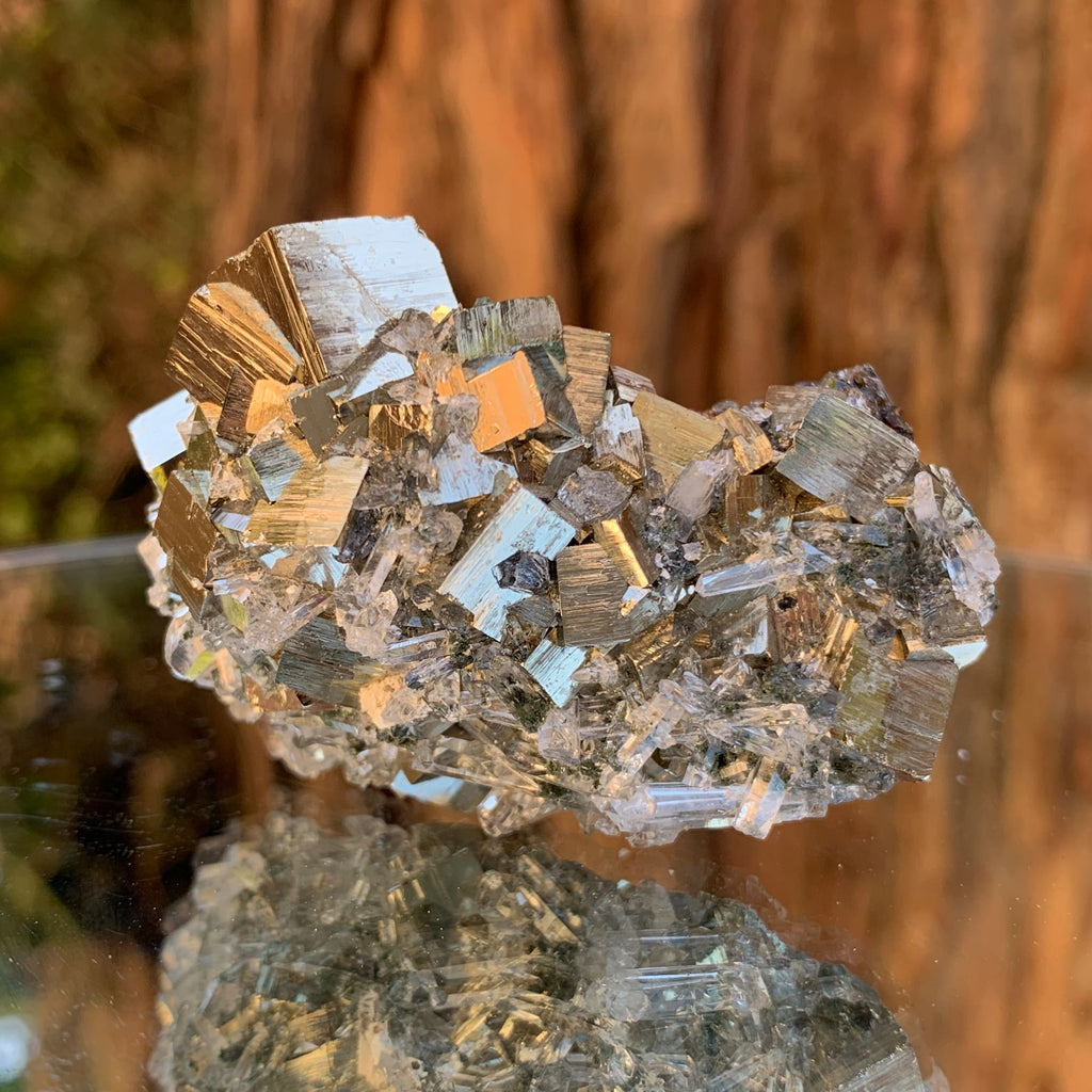 6cm 114g Pyrite, Clear Quartz, Sphalerite from Huaron, Peru
