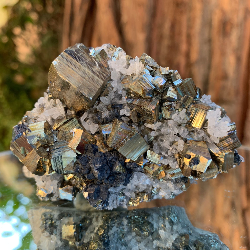 7.5cm 218g Pyrite, Clear Quartz, Sphalerite from Huaron, Peru