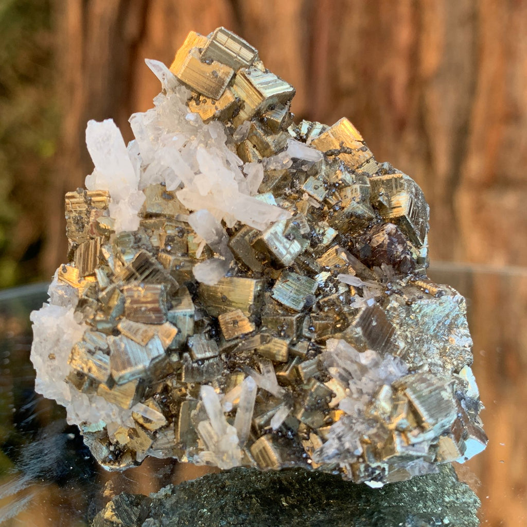 6cm 120g Pyrite, Clear Quartz from Huaron, Peru