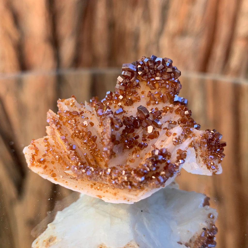 4cm 44g Vanadinite on Barite from Morocco
