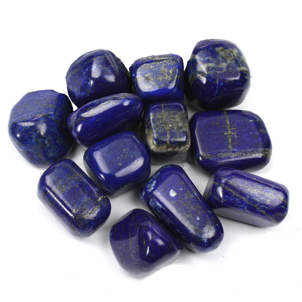 1lb Tumbled Lapis Lazuli Crystals from Afghanistan