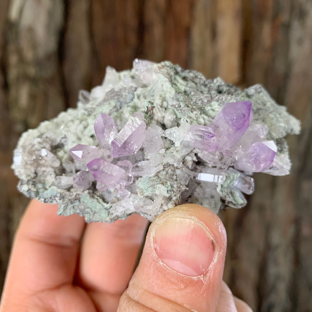 9cm 104g Veracruz Amethyst with Chalcedony from Mexico