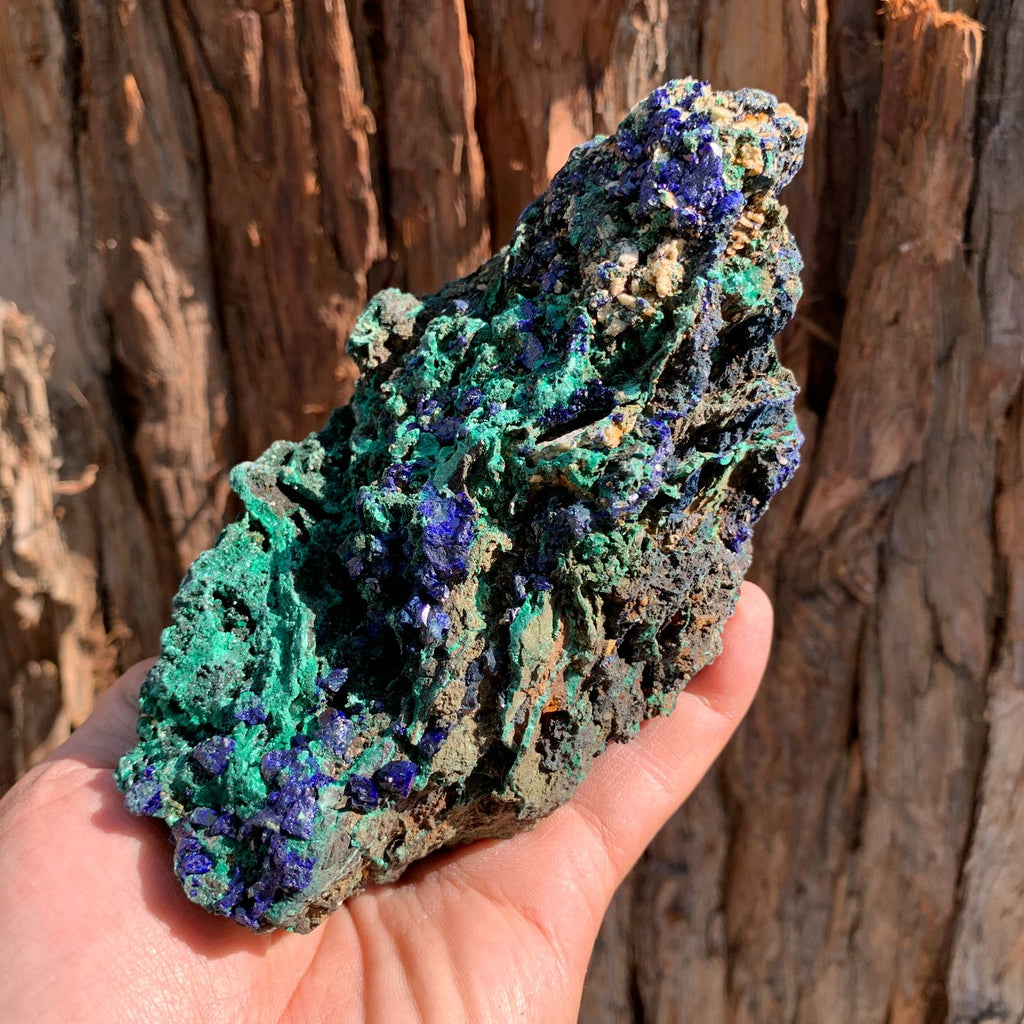 14.9cm 708g Azurite from Sepon Mine, Laos