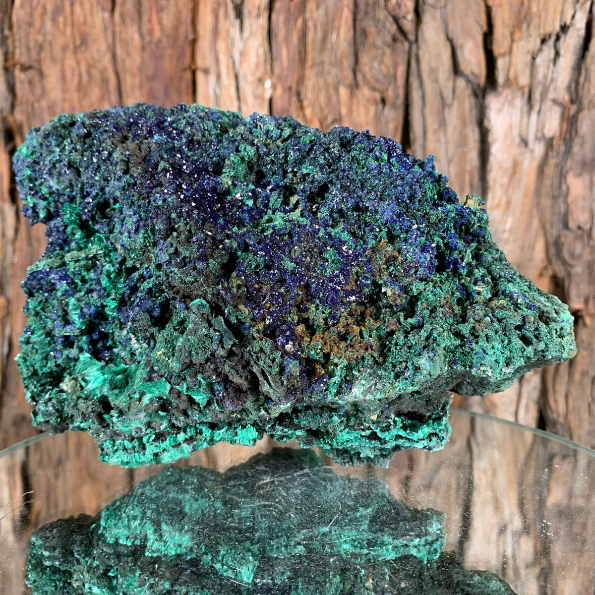 17.5cm 1.08kg Azurite and Malachite from Sepon Mine, Laos