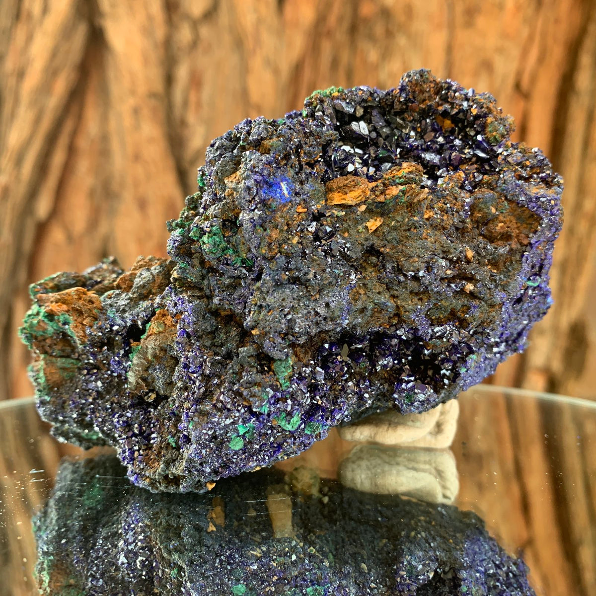 12.3cm 456g Azurite with Malachite from Sepon Mines, Laos