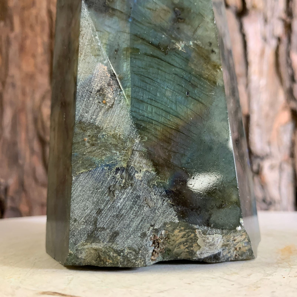 35cm 2.84kg Polished Labradorite Point from Madagascar