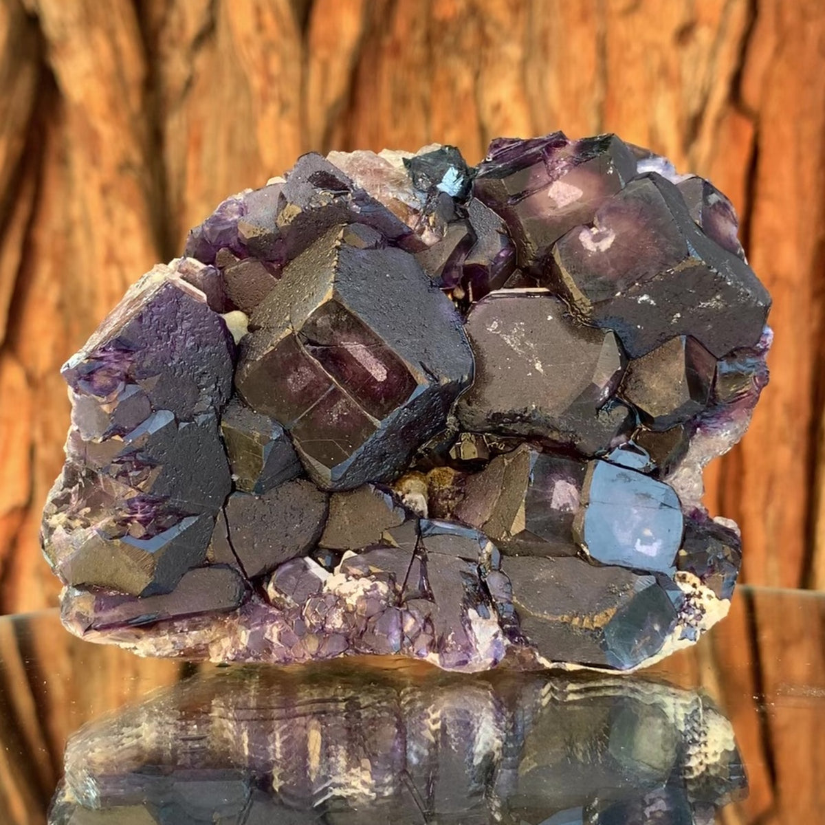 10.5cm 556g Purple Fluorite from Huanggang Mine, China
