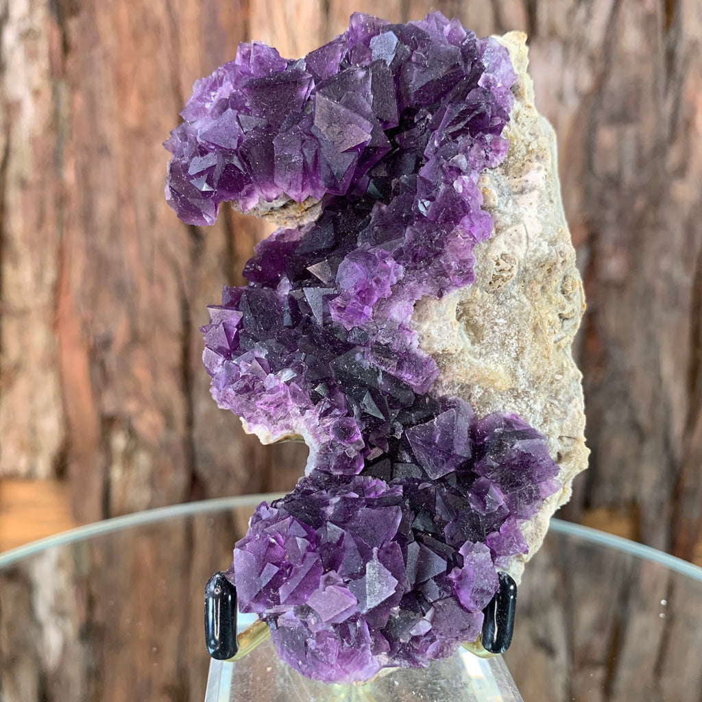 9.7cm 230g Octahedral Purple Fluorite from Sanming Mine, Zhejoiang Province, China