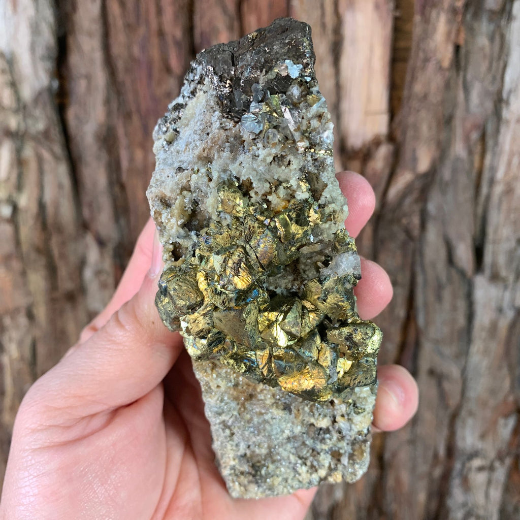12.5cm 384g Pyrrhotite and Chalcopyrite from Chifeng, Inner Mongolia, China