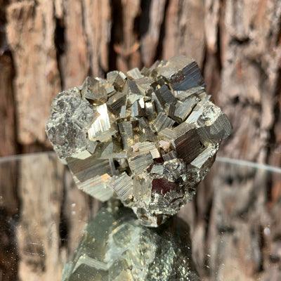 6cm 282g Pyrite with Clear Quartz from Hubei, China