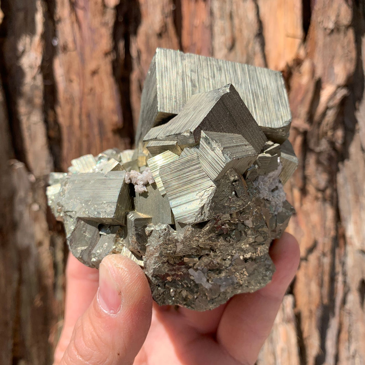 9cm 840g Pyrite with Clear Quartz from Hubei, China