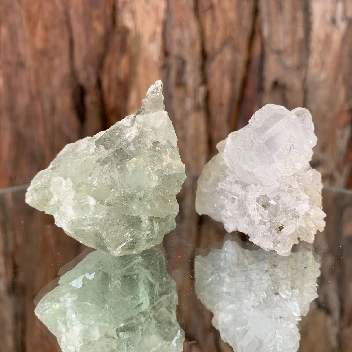 10.8cm 88g Clear Green Fluorite from Xianghualing, China