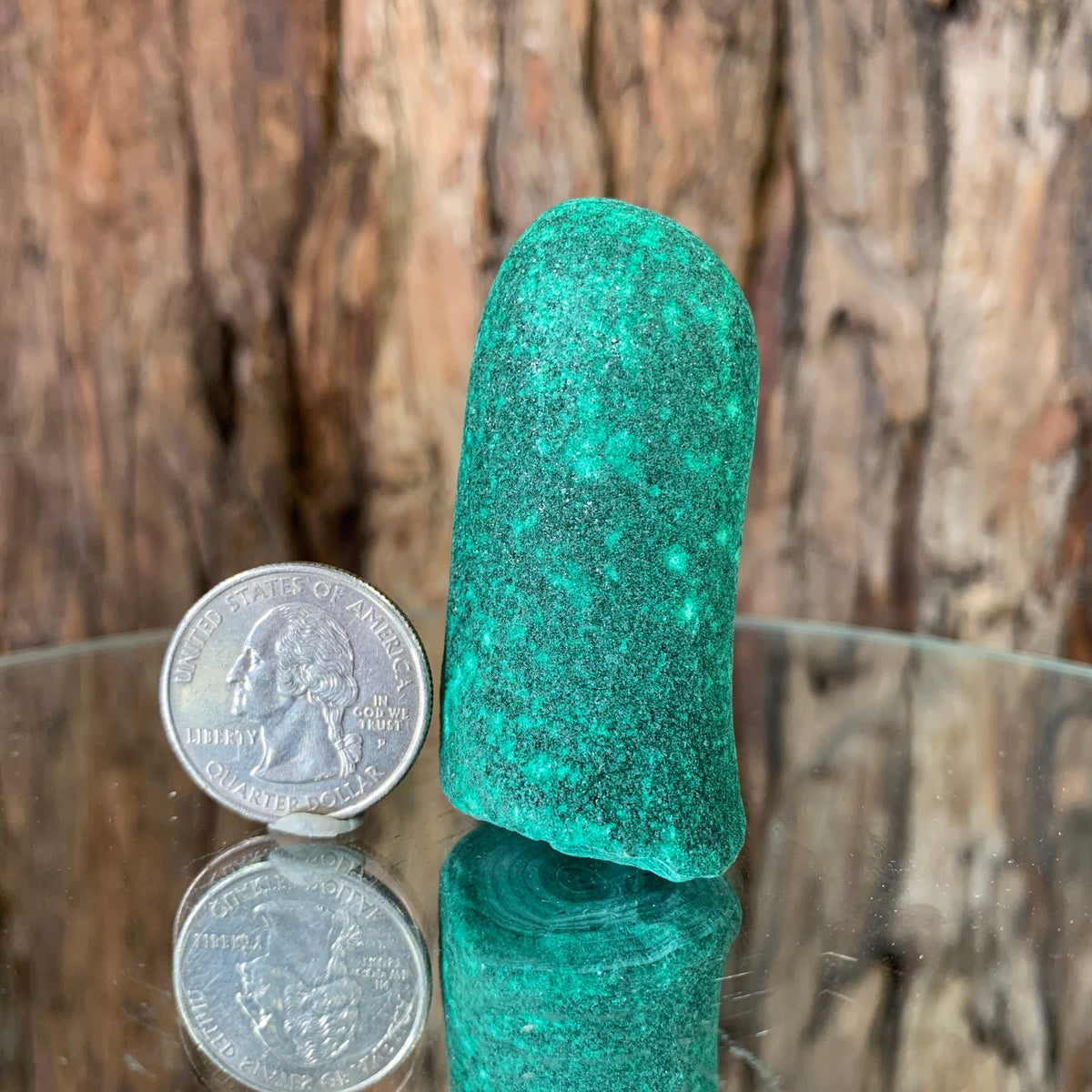 5.7cm 104g Malachite Stalactite from Sepon Mine, Laos