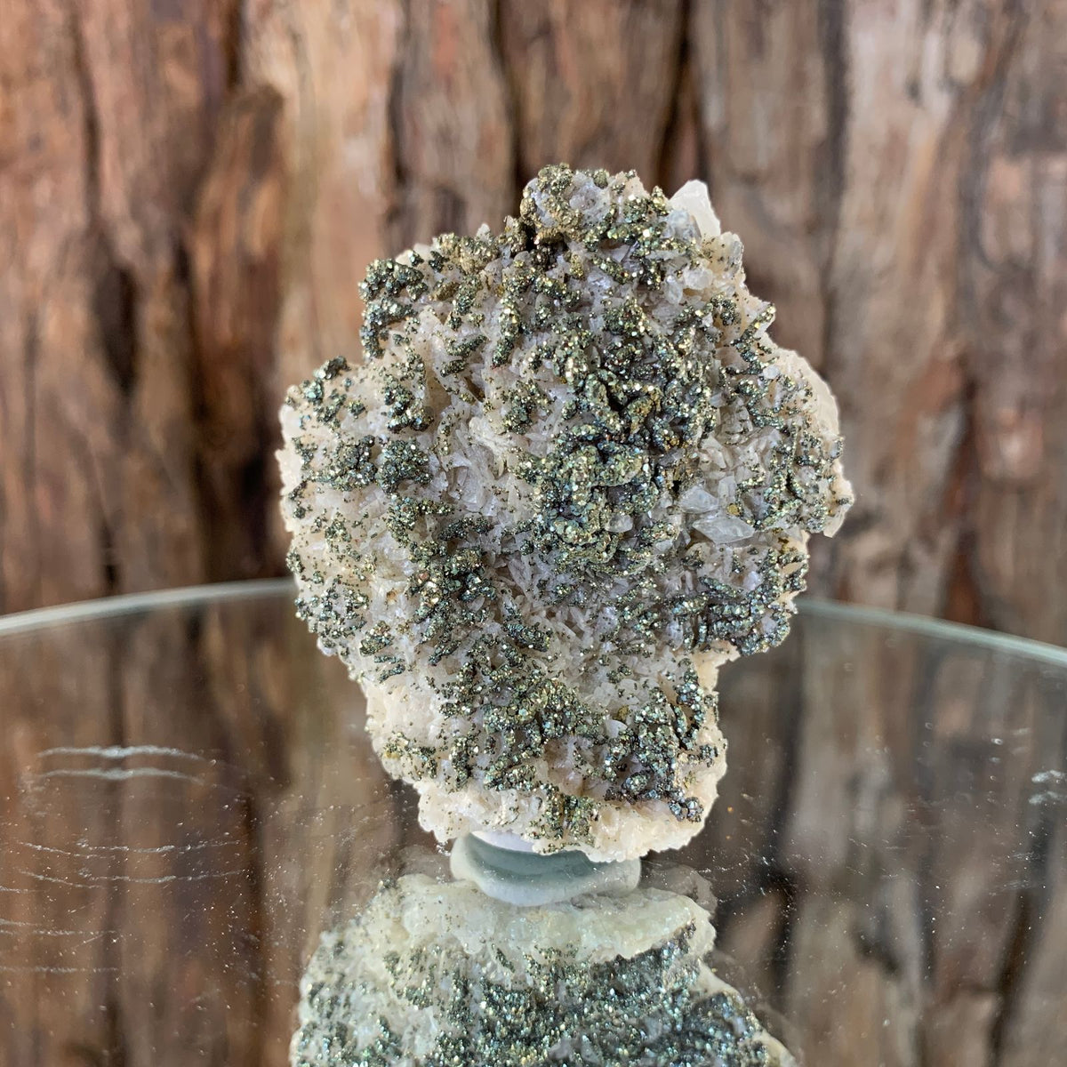 5cm 82g Pyrite and Dolomite, Clear Calcite from China