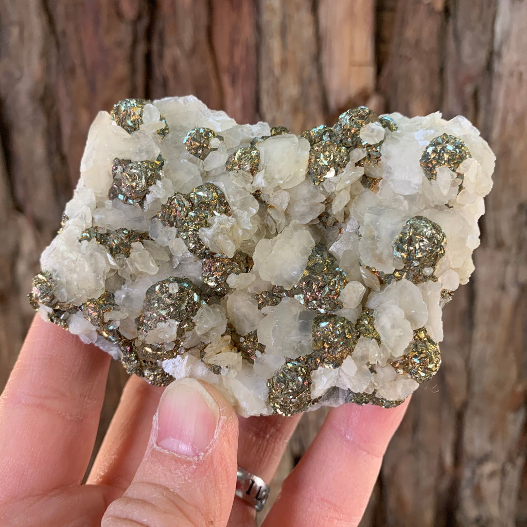 9cm 188g Pyrite and Calcite from China