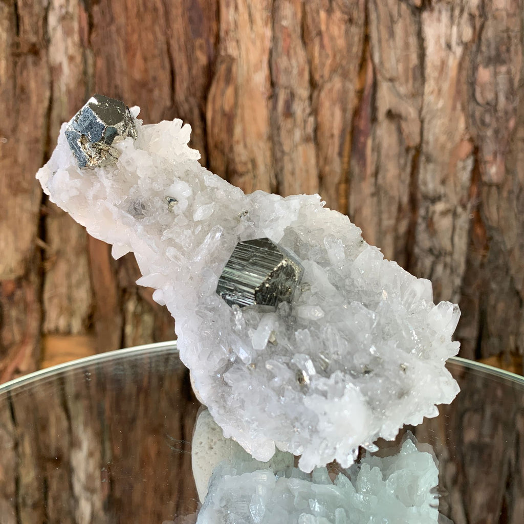 13cm 284g Clear Quartz with Pyrite from Myanmar