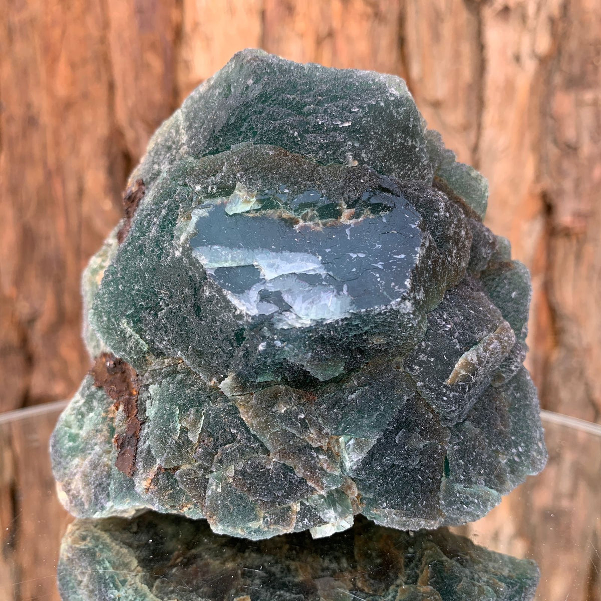9.5cm 598g Green Fluorite from Heilongjiang, China