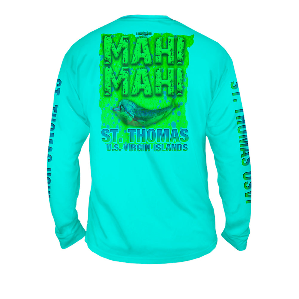 Mahi Fury - Mens Performance Long Sleeve Spot Print