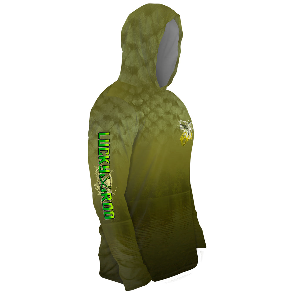 Bass Scales Mens Performance LS With Hood Allover