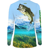 Shallow Attack Bass Womens LS V-Neck