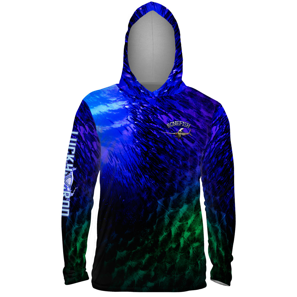 Bone Marlin Mens Performance LS With Hood