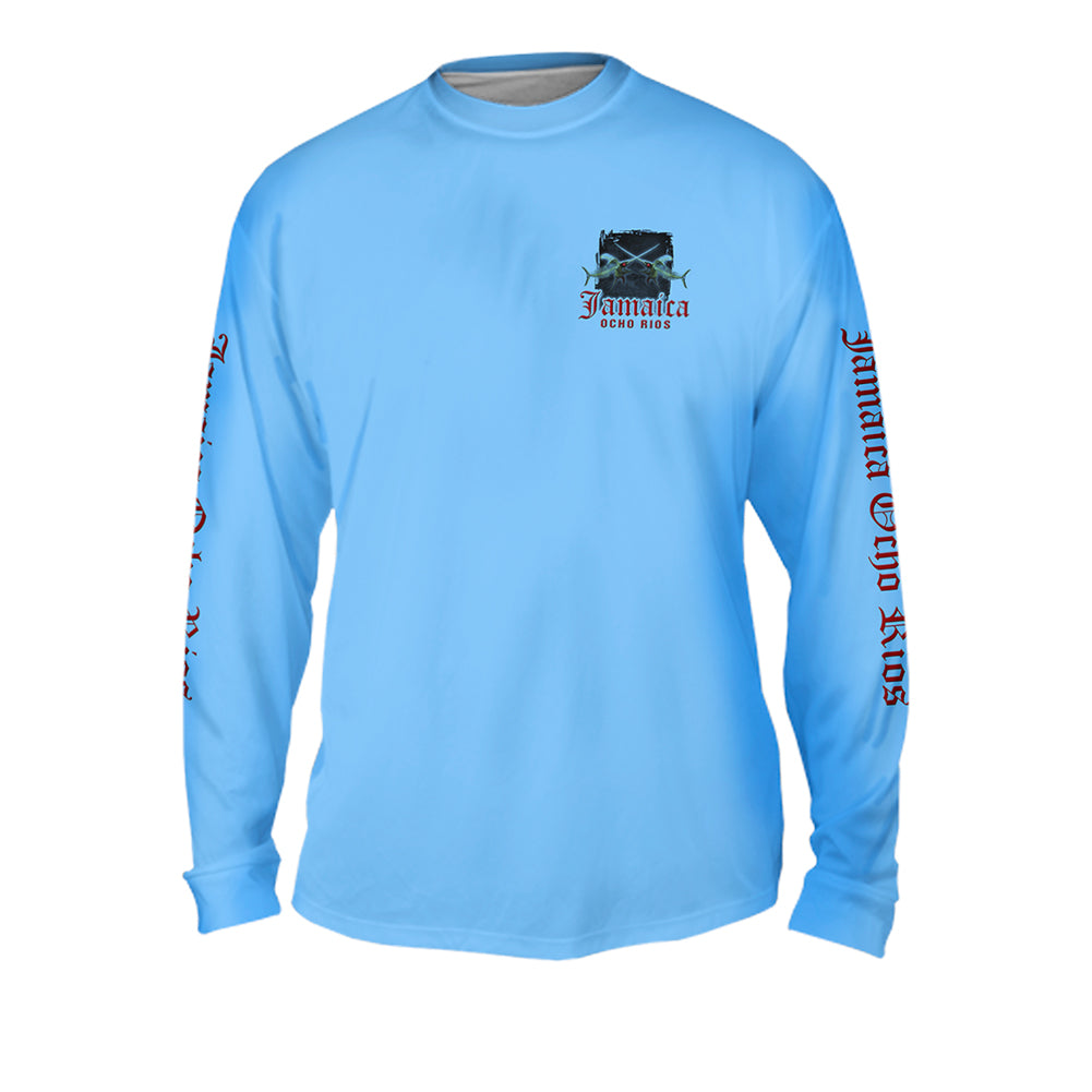 Fish or Die - Mens Performance Long Sleeve Spot Print
