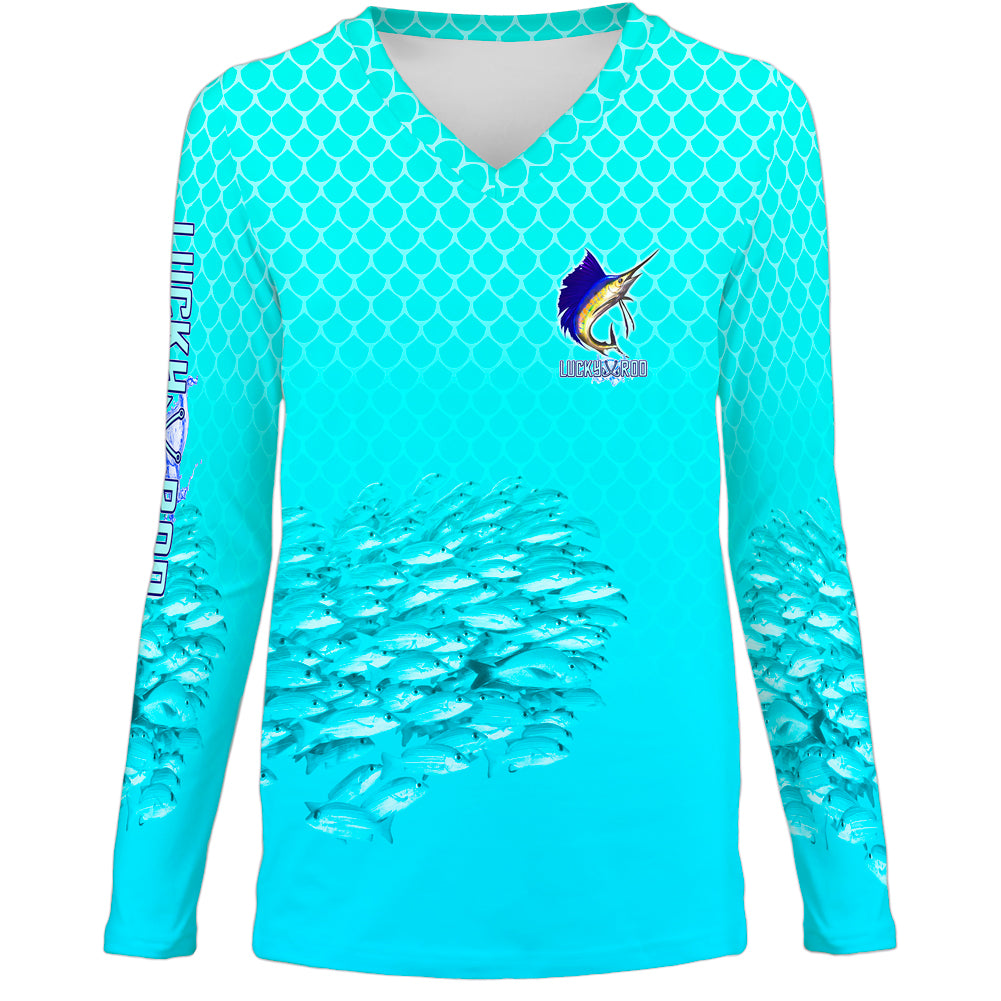 Sailfish Spin Womens LS V-Neck