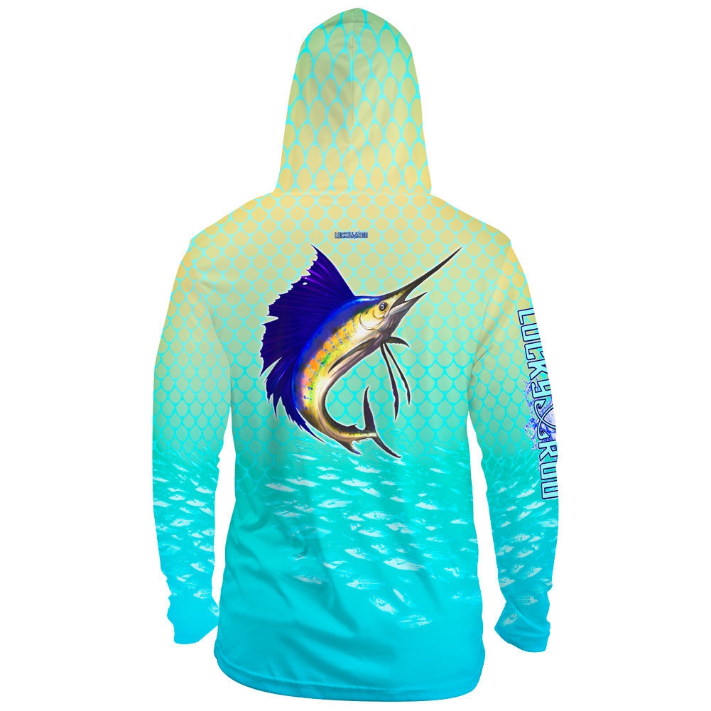 Sailfish Spin Mens Performance LS With Hood