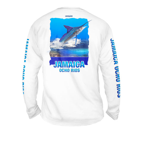 Marlin Reef - Mens Performance Long Sleeve Spot Print