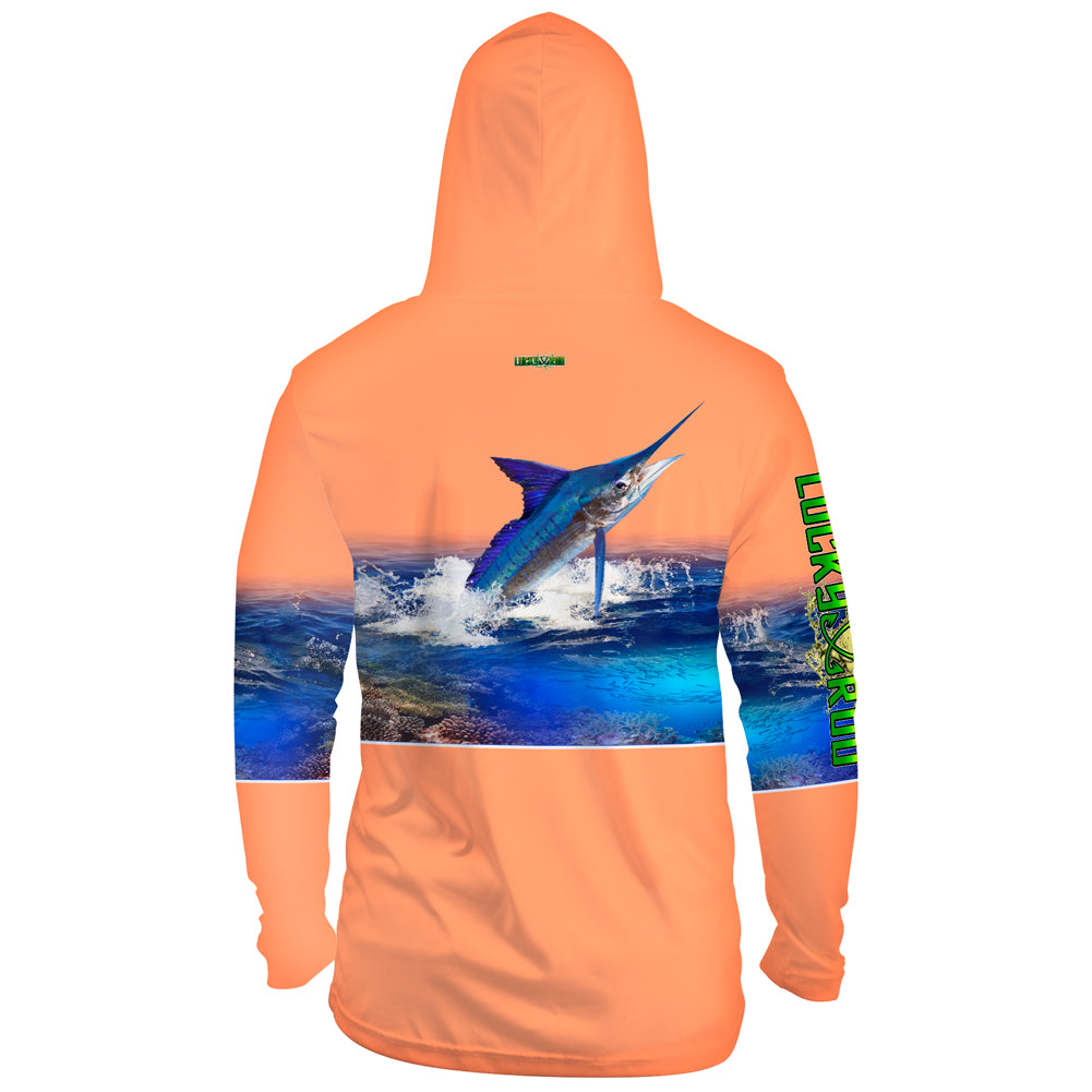 Marlin Reef Mens Performance LS With Hood