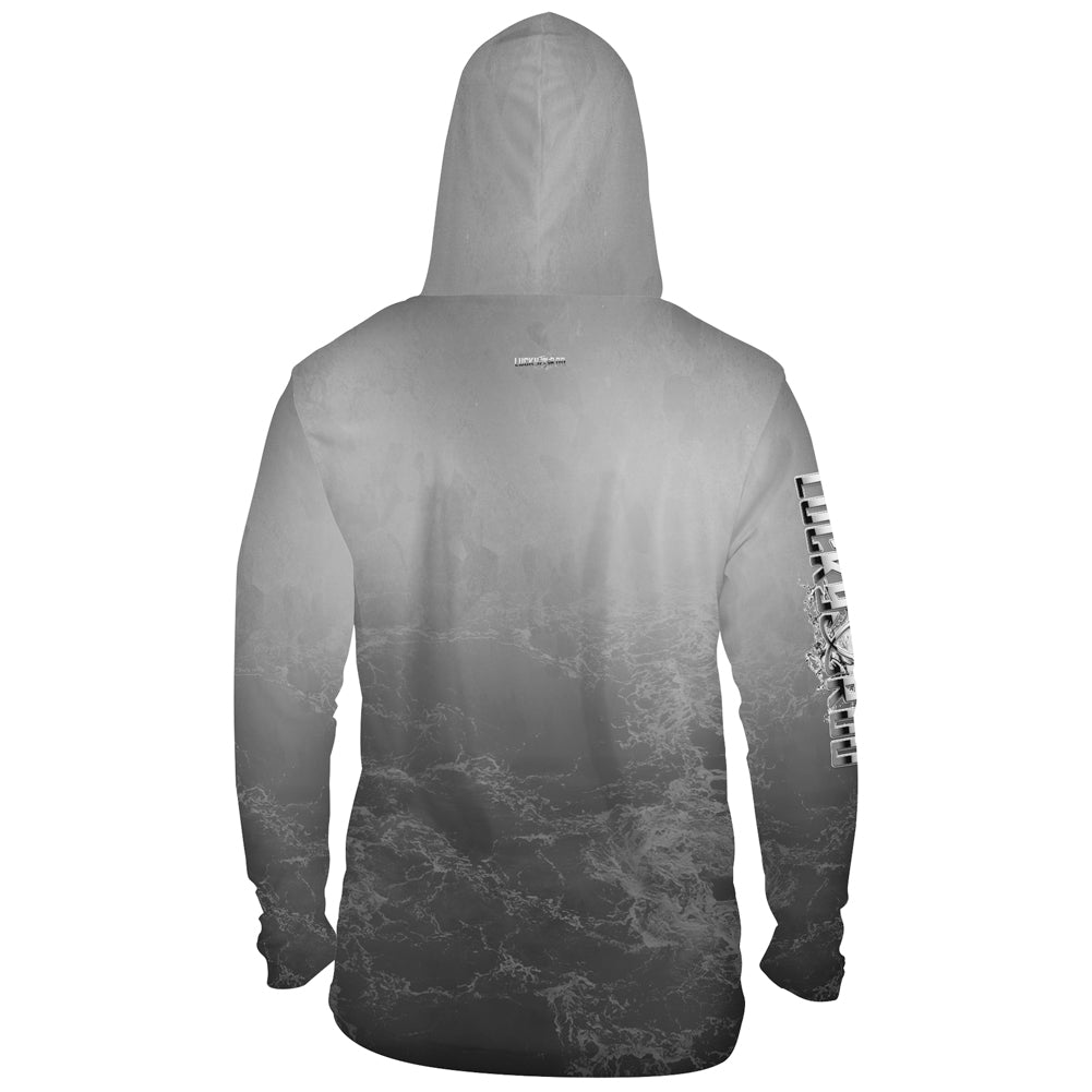 Metalic Marlin Mens Performance LS With Hood