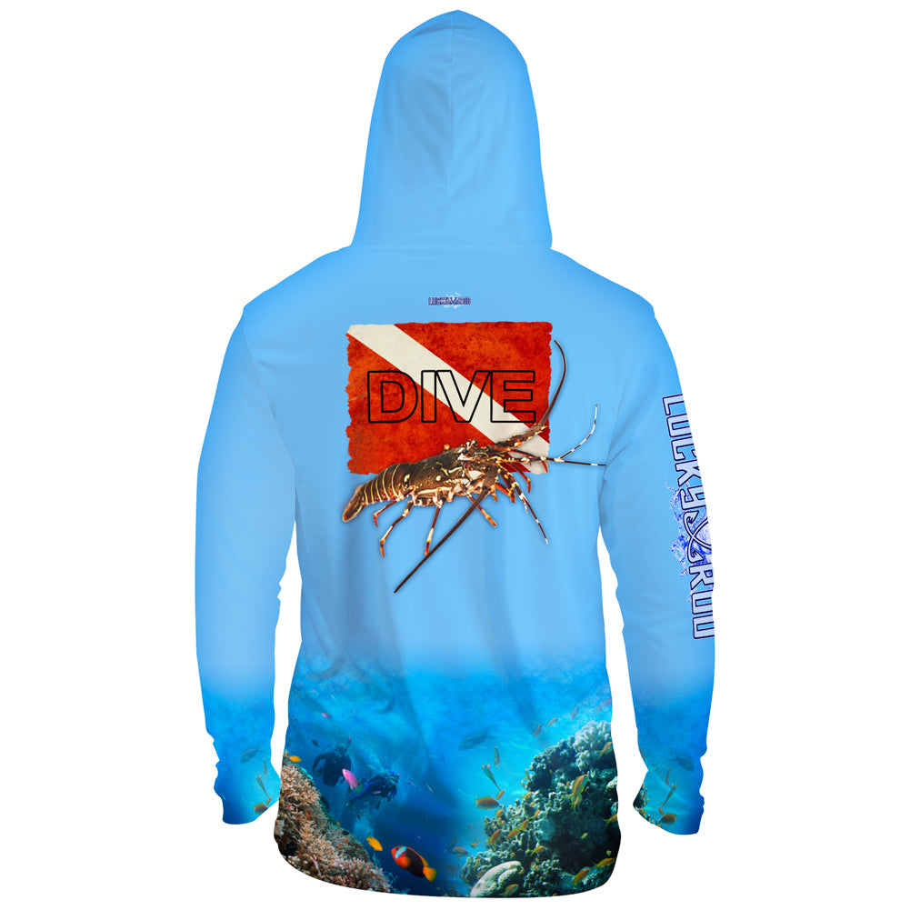 Lobster Dive Mens Performance LS With Hood