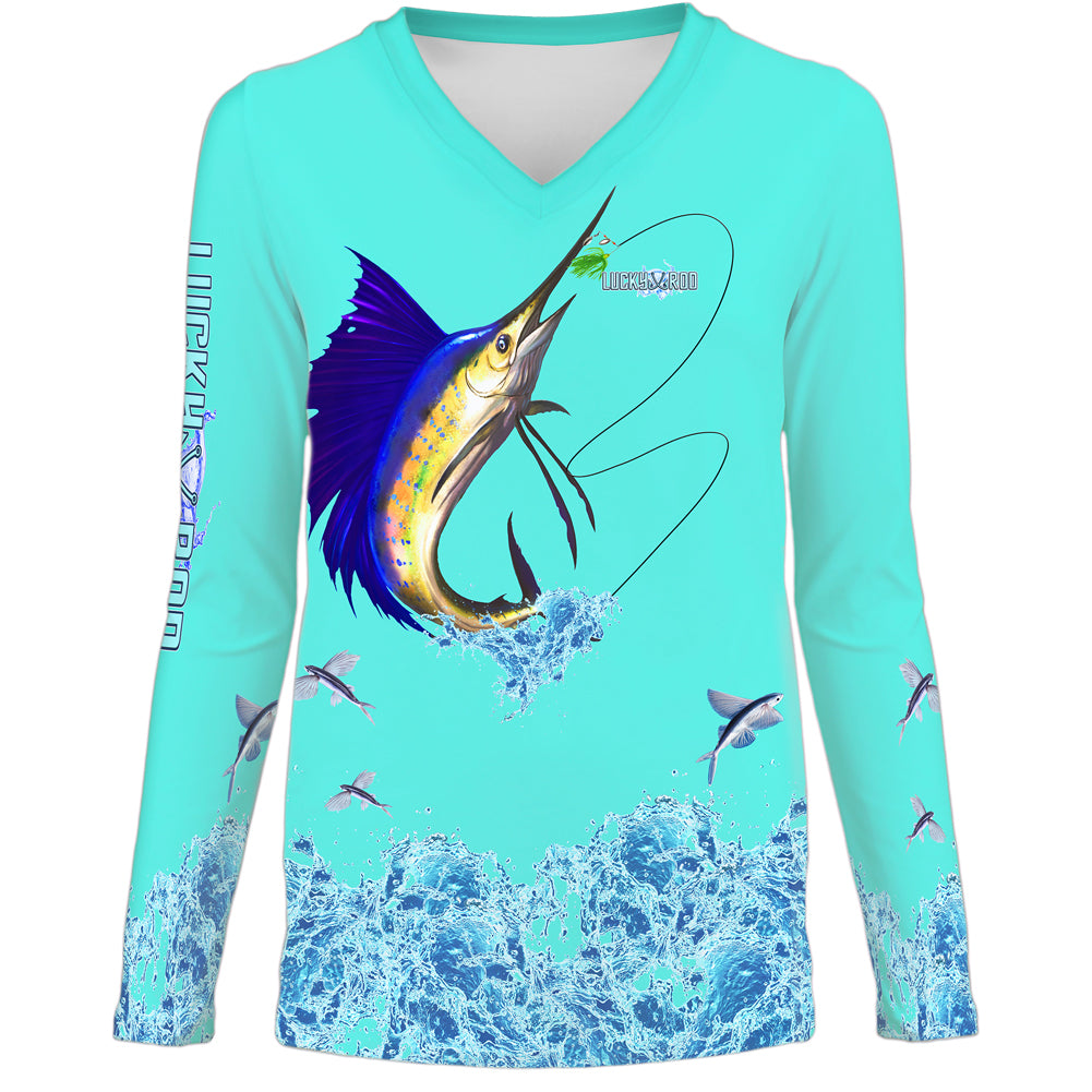 Sailfish Splash Womens LS V-Neck
